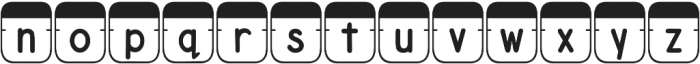 DJB File Folder Tabs otf (400) Font LOWERCASE