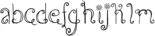 DJB Holly Jolly B'Golly ttf (400) Font LOWERCASE