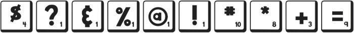 DJB Letter Game Tiles 2 ttf (400) Font OTHER CHARS
