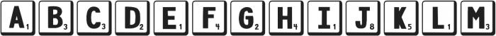 DJB Letter Game Tiles 2 ttf (400) Font UPPERCASE