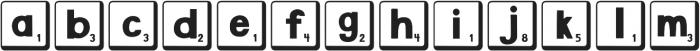 DJB Letter Game Tiles 2 ttf (400) Font LOWERCASE