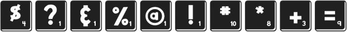 DJB Letter Game Tiles 3 ttf (400) Font OTHER CHARS