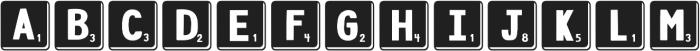 DJB Letter Game Tiles 3 ttf (400) Font UPPERCASE