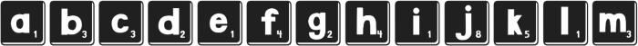DJB Letter Game Tiles 3 ttf (400) Font LOWERCASE