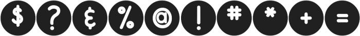 DJB On the Spot ttf (400) Font OTHER CHARS