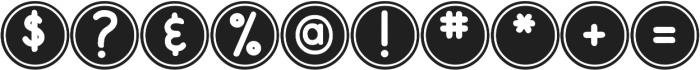DJB Pokey Dots ttf (400) Font OTHER CHARS