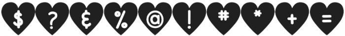 DJB Shape Up Hearts otf (400) Font OTHER CHARS