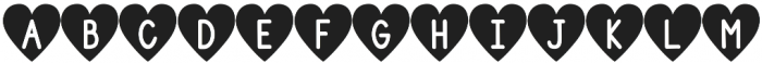 DJB Shape Up Hearts otf (400) Font UPPERCASE