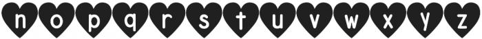 DJB Shape Up Hearts otf (400) Font LOWERCASE