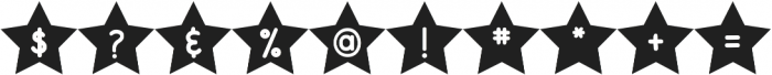 DJB Shape Up Stars otf (400) Font OTHER CHARS