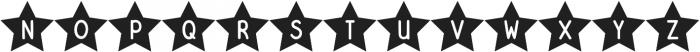 DJB Shape Up Stars otf (400) Font UPPERCASE