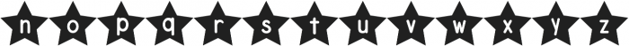 DJB Shape Up Stars otf (400) Font LOWERCASE