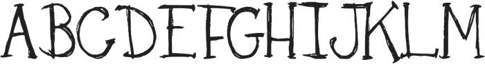 DJB Skritch Skratch ttf (400) Font UPPERCASE
