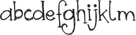 DJB Skritch Skratch ttf (400) Font LOWERCASE