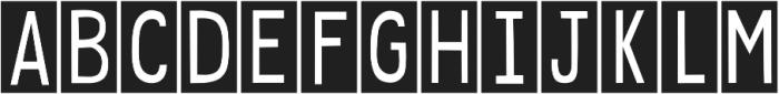 DJB Sticky Tape Labels Spaced ttf (400) Font UPPERCASE