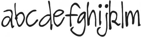 DJB TAGGED ttf (400) Font LOWERCASE