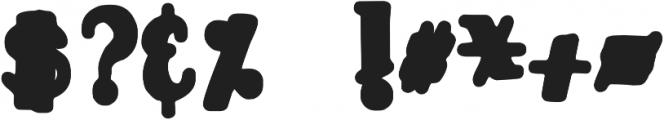 DJB TOOTSIE WOOTSIE BOLD ttf (700) Font OTHER CHARS