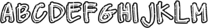 DJB Worn at the Knees ttf (400) Font UPPERCASE