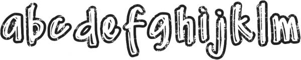 DJB Worn at the Knees ttf (400) Font LOWERCASE