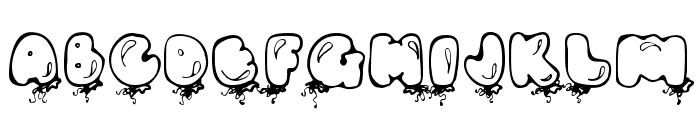 DJ Balloons Font LOWERCASE
