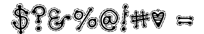 DJ Doodlers Stitch Font OTHER CHARS