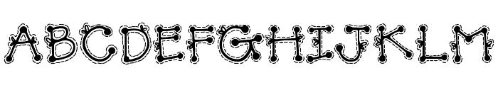 DJ Doodlers Stitch Font UPPERCASE