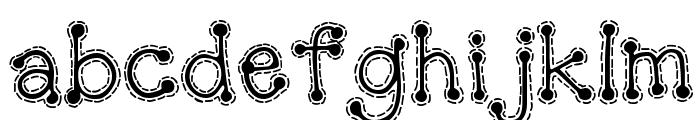 DJ Doodlers Stitch Font LOWERCASE
