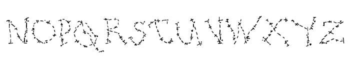 DJ Oldstitch Font UPPERCASE