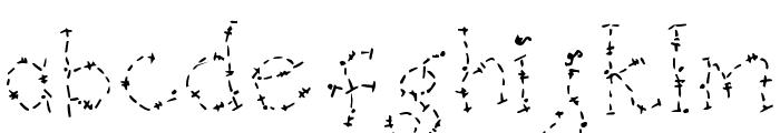 DJ Oldstitch Font LOWERCASE