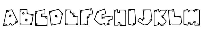 DJ Rugged Stone Font UPPERCASE