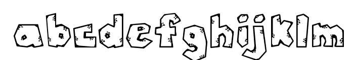 DJ Rugged Stone Font LOWERCASE