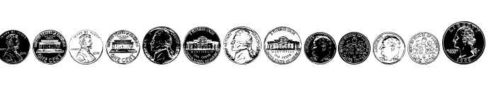 DJ Coinage Font LOWERCASE