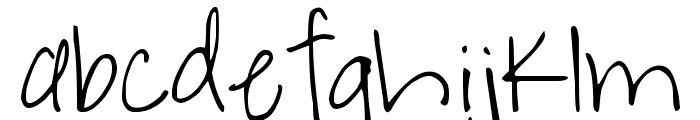DJB A Bit of Flaire Font LOWERCASE