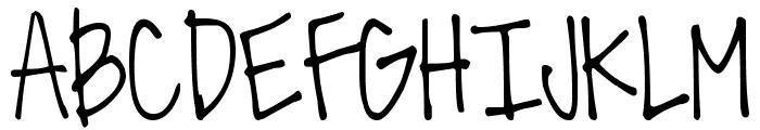 DJB All the Cool Chicks Font UPPERCASE