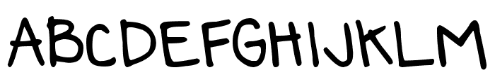 DJB Annalise the Bold Bold Font UPPERCASE