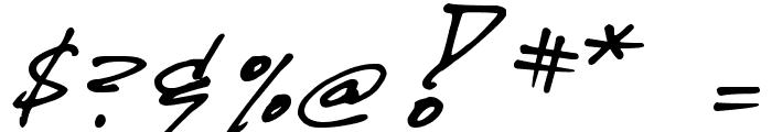 DJB CRIS script Font OTHER CHARS