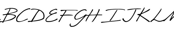 DJB CRIS script Font UPPERCASE