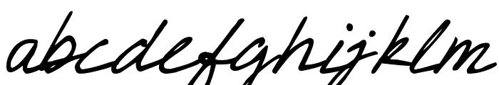 DJB CRIS script Font LOWERCASE