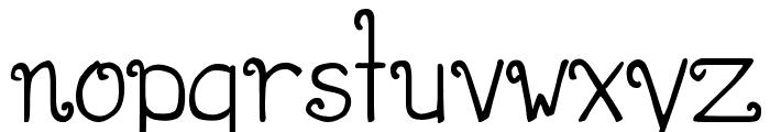 DJB CURLIE WURLIE Font LOWERCASE