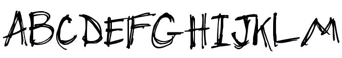 DJB Chicken Skratchez Font UPPERCASE