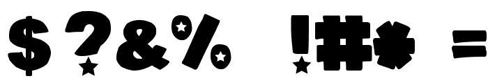 DJB Cutouts-Stars Bold Font OTHER CHARS
