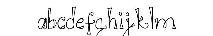DJB DOODL E DOO Font LOWERCASE