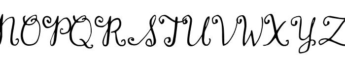 DJB Dear Mr Claus Font UPPERCASE