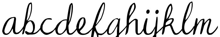 DJB Dear Mr Claus Font LOWERCASE