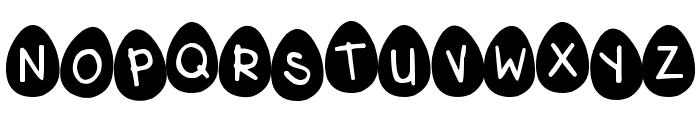 DJB Eggsellent Wobbly Font UPPERCASE