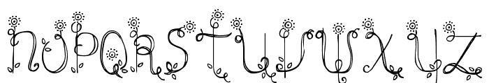 DJB Emilys Garden Font UPPERCASE