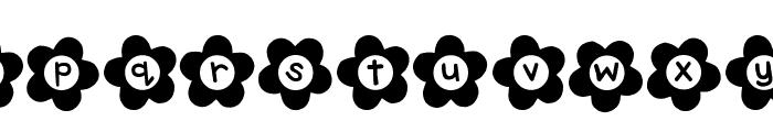 DJB Flower Power 2 Font LOWERCASE