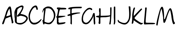 DJB Geordie Girl Font UPPERCASE