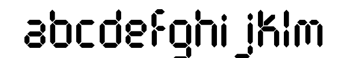 DJB Get Digital Font LOWERCASE