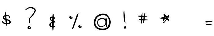 DJB Gimme Space Font OTHER CHARS
